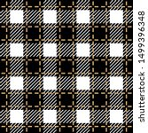 checkered black and white...   Shutterstock .eps vector #1499396348