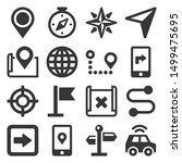 map and navigation icons set on ... | Shutterstock .eps vector #1499475695