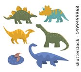 cute funny colorful dinosaur... | Shutterstock .eps vector #1499499968