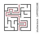 maze. education logic game... | Shutterstock .eps vector #1499502188