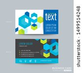 blue business card design with... | Shutterstock .eps vector #1499514248