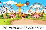 fun fair amusement park empty... | Shutterstock .eps vector #1499514608