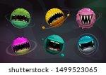 crazy colorful monster balls.... | Shutterstock .eps vector #1499523065