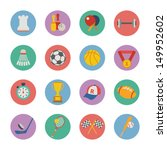 set of flat sport icons | Shutterstock .eps vector #149952602