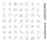 Fruit Icons. Editable 49 Fruit...