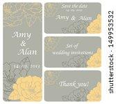 a set of wedding invitation... | Shutterstock .eps vector #149953532