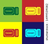 color ticket icon isolated on... | Shutterstock .eps vector #1499539082