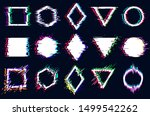 vector abstract geometric... | Shutterstock .eps vector #1499542262