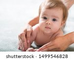 newborn baby mother care arms... | Shutterstock . vector #1499546828