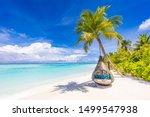 tropical beach background as... | Shutterstock . vector #1499547938