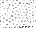 christmas background with... | Shutterstock .eps vector #1499555318