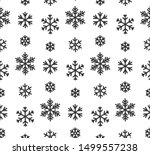 snowflake line seamless pattern.... | Shutterstock .eps vector #1499557238