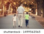Grandfather With Two Kids...