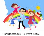 happy family | Shutterstock .eps vector #149957252