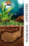 landscape design with hole...   Shutterstock .eps vector #1499572985
