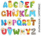 colorful children alphabet... | Shutterstock .eps vector #149958062