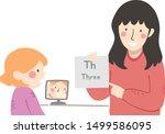 illustration of a kid girl...   Shutterstock .eps vector #1499586095