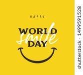 happy world smile day banner... | Shutterstock .eps vector #1499591528
