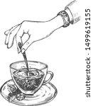 vector illustration of healthy... | Shutterstock .eps vector #1499619155