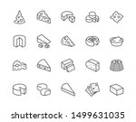 cheese flat line icons set.... | Shutterstock .eps vector #1499631035