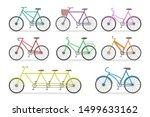 bicycle set. transport... | Shutterstock .eps vector #1499633162
