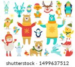 collection of animals and... | Shutterstock . vector #1499637512