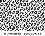Abstract animal skin leopard seamless pattern design. Jaguar, leopard, cheetah, panther fur. Black and white seamless camouflage background.