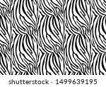 abstract zebra seamless pattern.... | Shutterstock .eps vector #1499639195