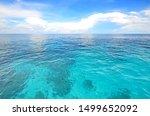A Beautiful Ocean Against Blue...