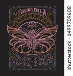 art nouveau fake rock band... | Shutterstock .eps vector #1499709608