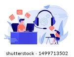 contact center agents with... | Shutterstock .eps vector #1499713502