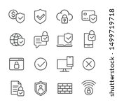 internet security   line icons | Shutterstock .eps vector #1499719718