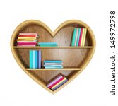 Heart Shaped Book Shelf With...