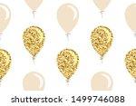 gold glitter balloons seamless...   Shutterstock .eps vector #1499746088