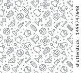 halloween seamless pattern with ... | Shutterstock .eps vector #1499747648