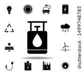 gas  balloon  oil icon . set of ...
