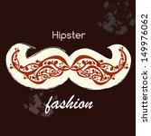 vector ornamental moustaches | Shutterstock .eps vector #149976062