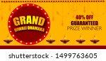 diwali festival sale design... | Shutterstock .eps vector #1499763605