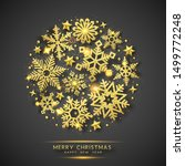 christmas background with... | Shutterstock .eps vector #1499772248