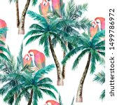 summer seamless pattern with... | Shutterstock . vector #1499786972