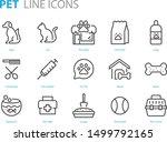 set of pet icons  dog  cat ... | Shutterstock .eps vector #1499792165