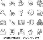 set of wine icons  wine bottle  ...   Shutterstock .eps vector #1499792195