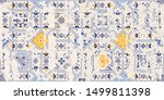 seamless vintage pattern with... | Shutterstock .eps vector #1499811398