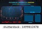 hud  ui ux gui futuristic user... | Shutterstock .eps vector #1499812478