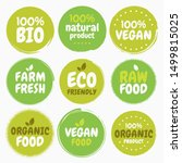 fresh healthy organic vegan... | Shutterstock .eps vector #1499815025