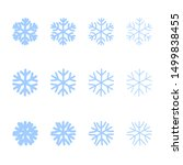 snowflakes signs set. blue... | Shutterstock .eps vector #1499838455