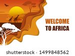welcome to africa travel poster ... | Shutterstock .eps vector #1499848562