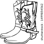 Cowboy Boots With A Pattern And ...