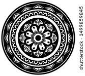 mandala decorative round...   Shutterstock .eps vector #1499859845