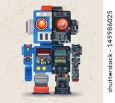 robot opened to reveal cogs... | Shutterstock .eps vector #149986025